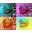 Colorful creative balls vector