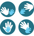 Children and parent hands vector