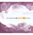 Abstract background with white clouds vector