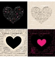 Heart set love background vector