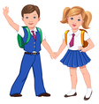School boy girl bag vector