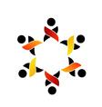 Teamwork support logo or design element vector