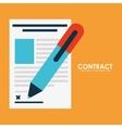 Contract icon vector