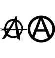 Anarchy symbols vector
