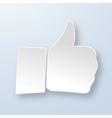 Thumbs up paper sign vector