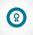 Achievement bold blue border circle icon vector