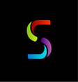 Abstract logo for letter s vector