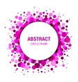 Purple abstract circle frame design element vector