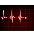 Abstract heart beats cardiogram eps 8 vector