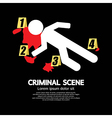 Criminal scene vector