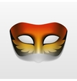 Carnival masquerade party mask isolated vector