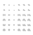Set of different flat wi-fi and wireless icons for vector
