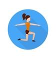 Sport woman vector