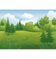 Landscape summer forest vector