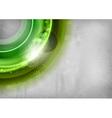 Background green light corner round with stars vector
