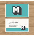 Business card letter m vector
