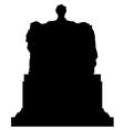 Abraham lincoln memorial statue silhouette vector
