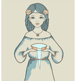 Girls astrological sign aquarius vector