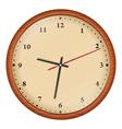 Wooden wall clock vector