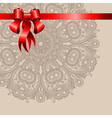 Holiday background with red ribbon vector