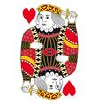 King of hearts no card vector