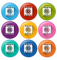 Movie buttons vector
