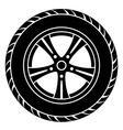Car wheel black white symbol vector
