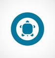 Turtle bold blue border circle icon vector