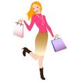 Happy shopper vector