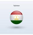 Tajikistan round flag vector