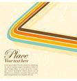 Grunge retro stripe background vector