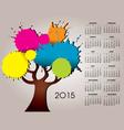 2015 splat tree calendar vector