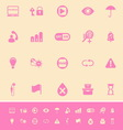 Home use machine sign color icons on light brown vector