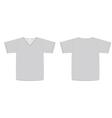 Unisex vneck tshirt template vector