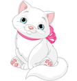 Cute fat cat vector
