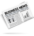 Folded newspaper presenting business news vector