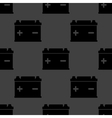 Car battery web icon flat design seamless gray vector