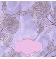 Vintage rose floral card not auto-traced eps 8 vector