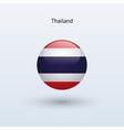 Thailand round flag vector