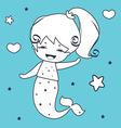 Mermaid coloring book vector