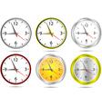 Wall office clocks vector