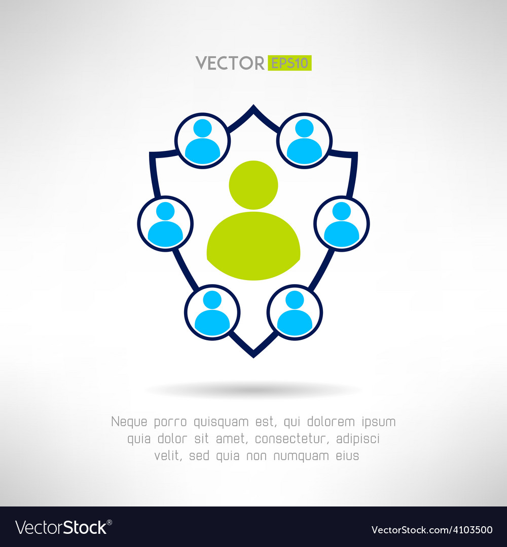 A group of people forming a shield man defence vector | Price: 1 Credit (USD $1)