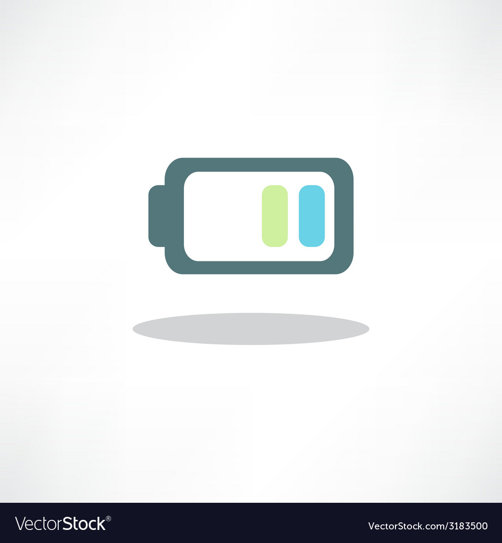 Abstract battery icon  button for websites ui or vector | Price: 1 Credit (USD $1)