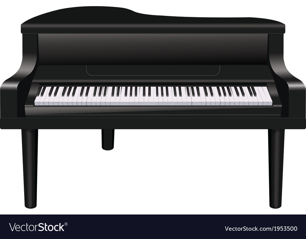 Closed piano vector