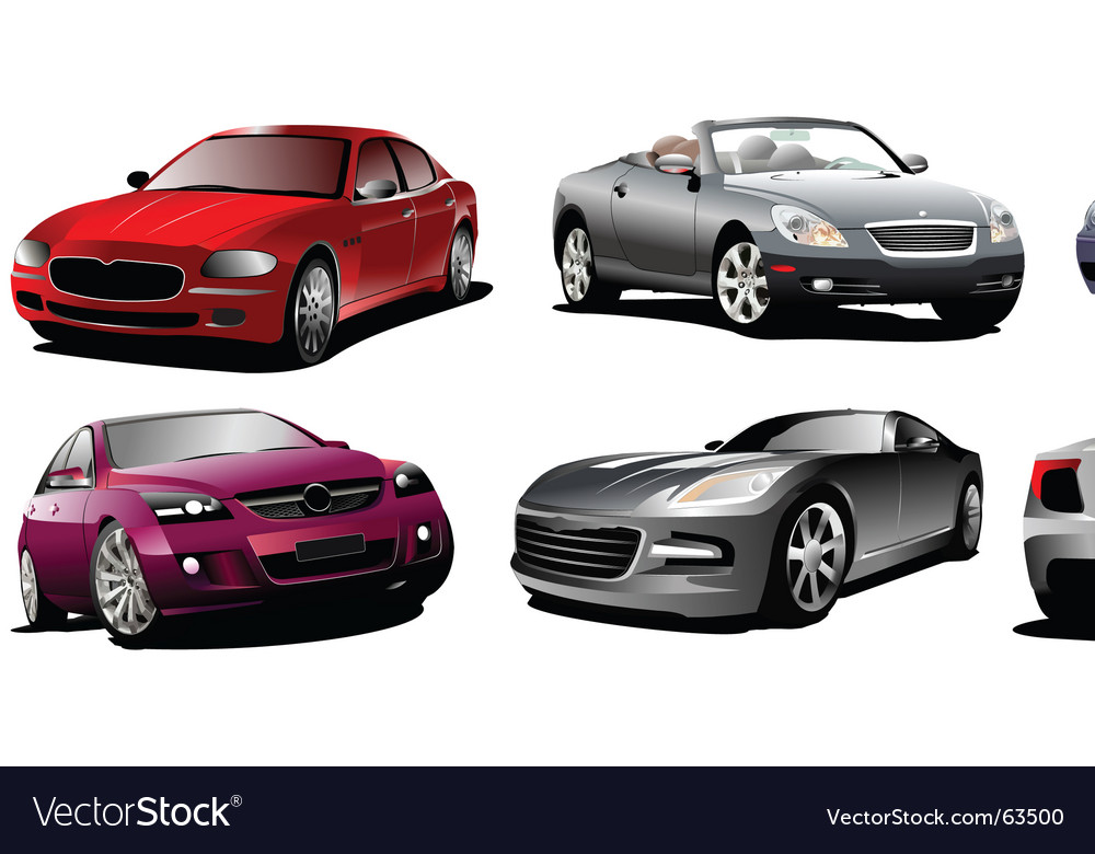 Eight cars vector | Price: 1 Credit (USD $1)