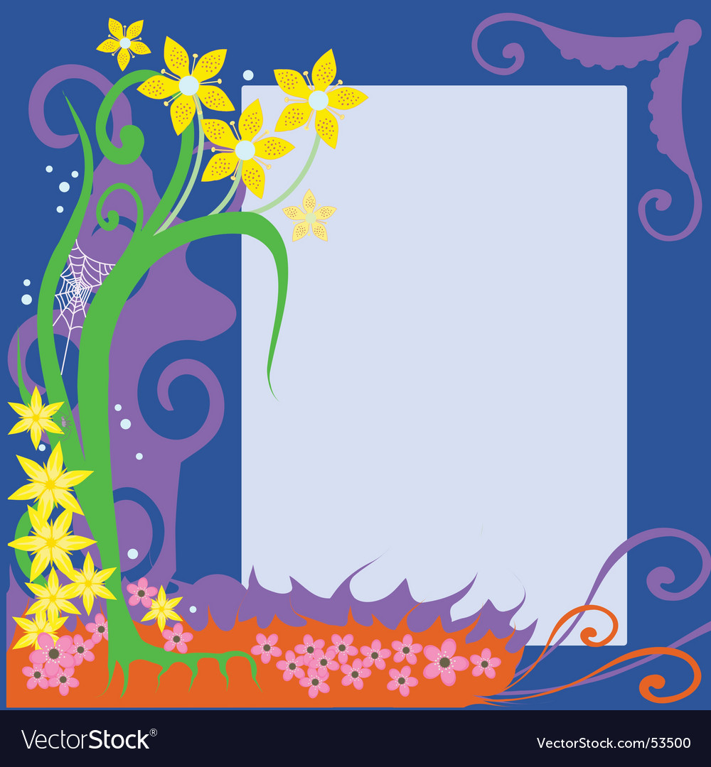 Flower border vector | Price: 1 Credit (USD $1)