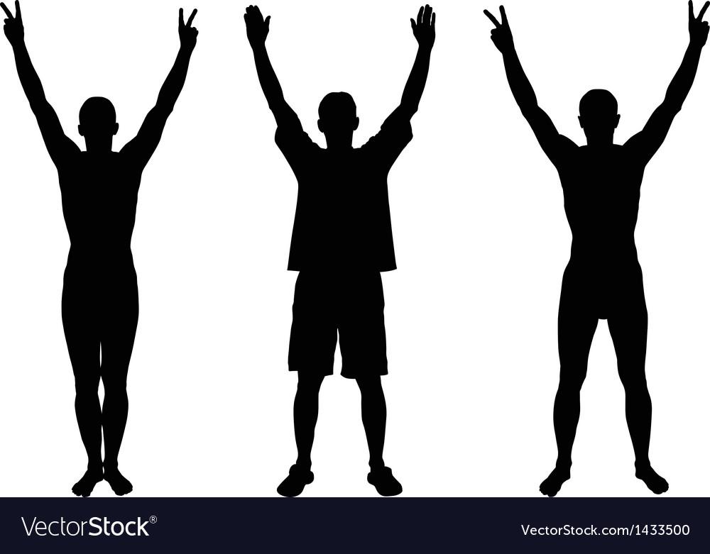 Hands up vector | Price: 1 Credit (USD $1)
