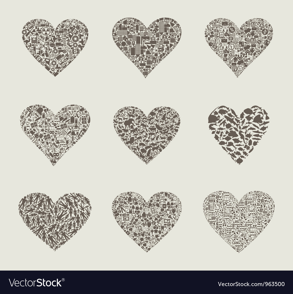 Heart design an element vector | Price: 1 Credit (USD $1)