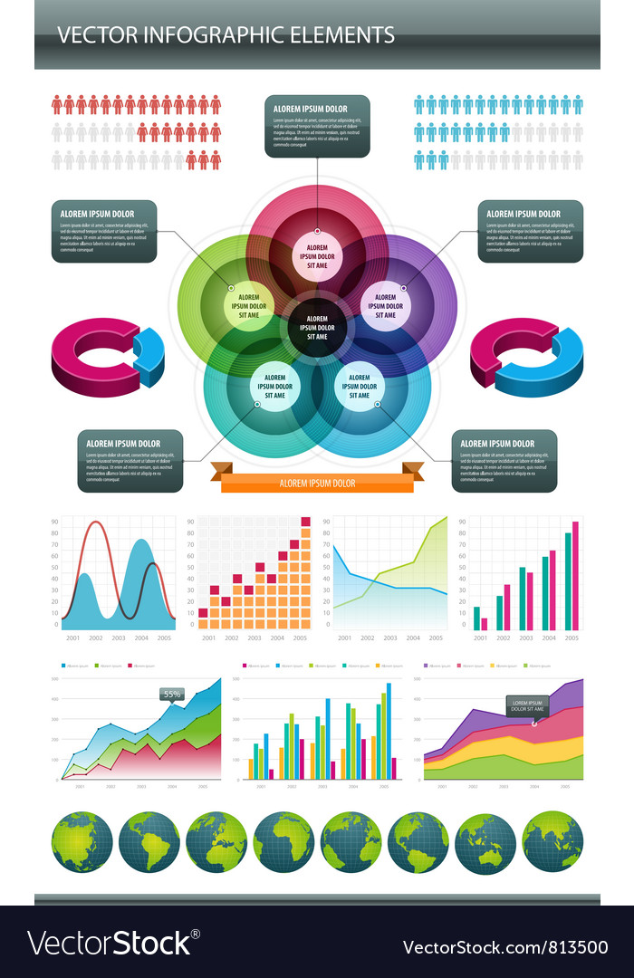 Infographics collection vector | Price: 3 Credit (USD $3)