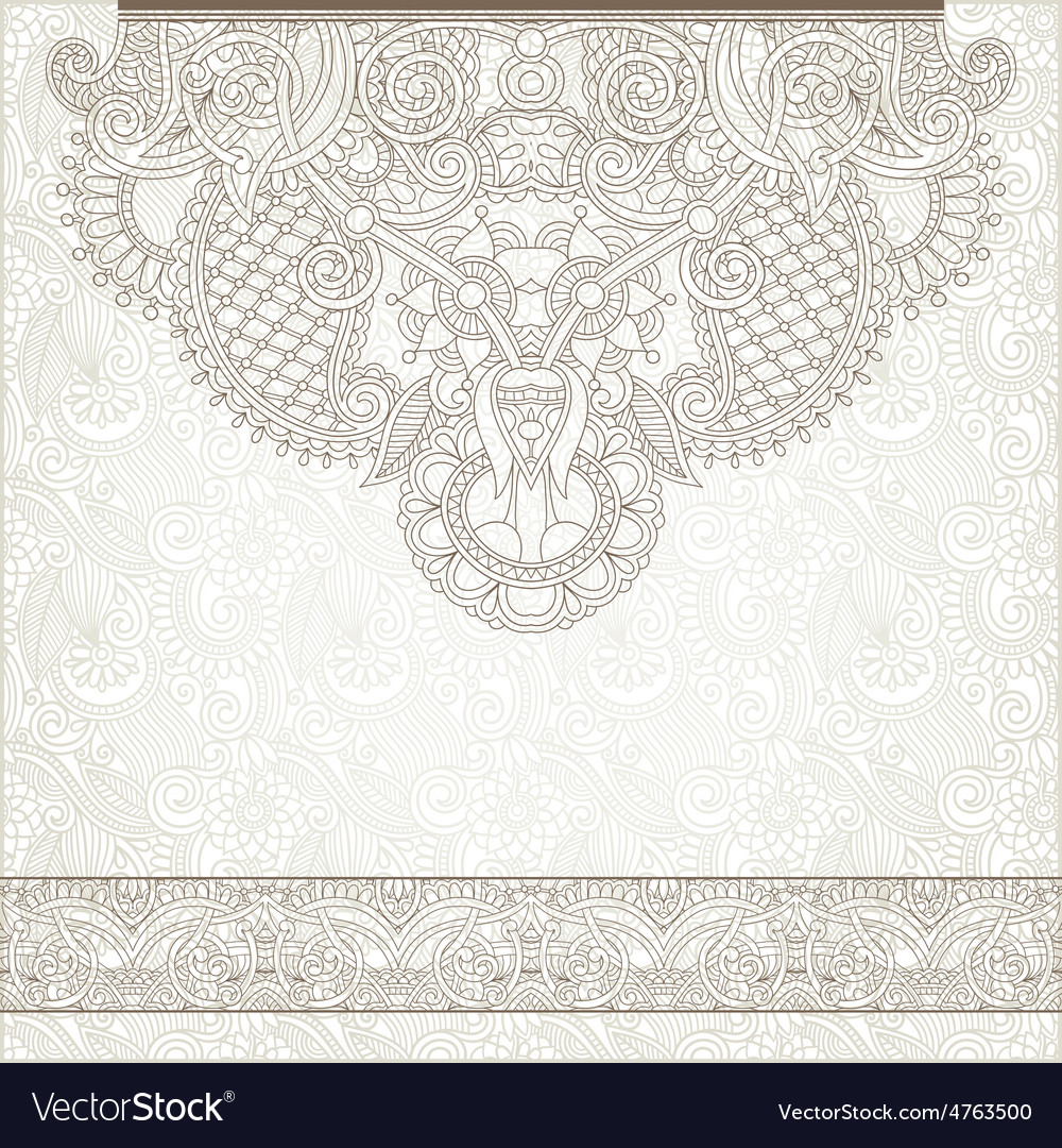 Light floral frame on paisley background with vector | Price: 1 Credit (USD $1)